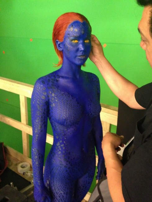 First look at Jennifer Lawrence as Mystique in X-Men