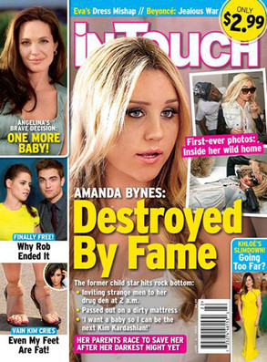 Amanda Bynes In Touch Magazine drug photos from house party