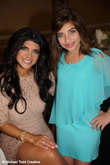 Teresa Giudice and her daughter Gia at Gabriella's first communion