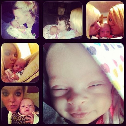 Leah Calvert's daughter Adalynn photos