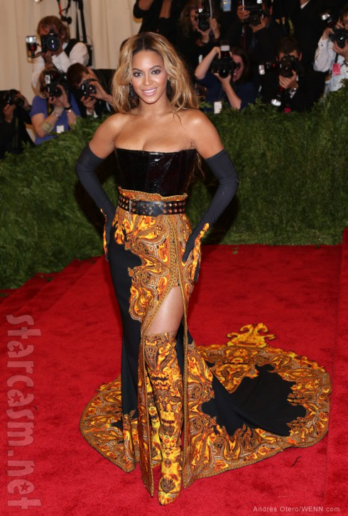 Reportedly pregnant Beyonce at the MET Gala