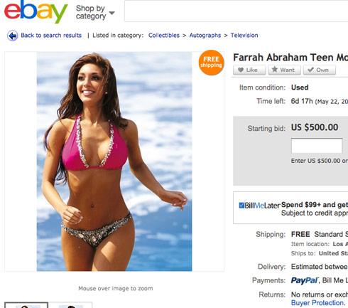 Farrah-bikini-eBay-sale