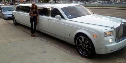 Farrah Abraham Rolls Royce limousine