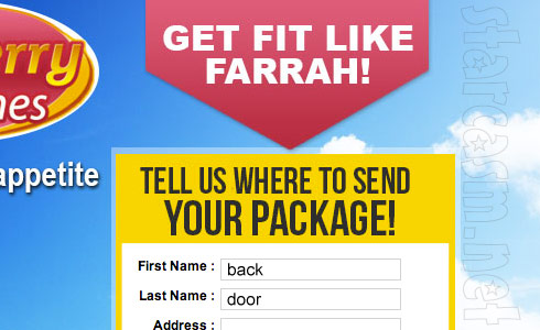 Farrah Abraham where to send your package order form