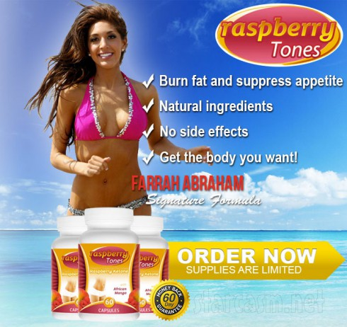 Farrah Abraham signs endorsement deal with Raspberry Tones weight loss pills