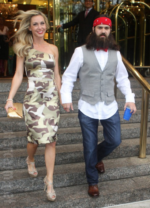 Duck Dynasty's Jessica Robertson in a camouflage dress