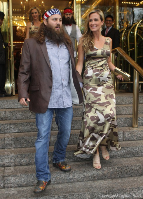 Duck Dynasty's Korie Robertson in a camouflage dress
