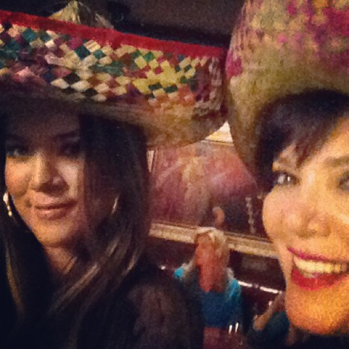Kris Jenner sombrero photo shared by Khloe Kardashian