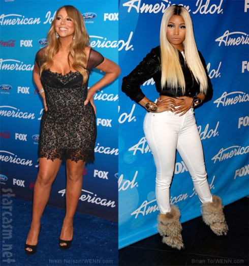 Mariah Carey and Nicki Minaj American Idol