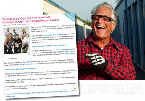 Barry Weiss laughing at rumors Darrell Sheets Dan Dotson and Laura Dotson were fired from Storage Wars