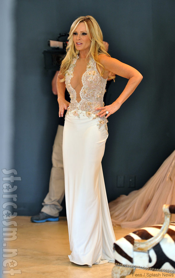 Photos tamra barney tries on wedding dresses for Wedding dress stores orange county