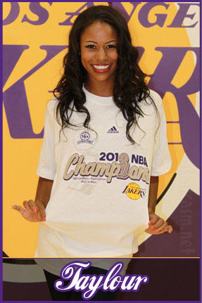 Ahsha Hayes of Hit The Floor as a Laker Girl