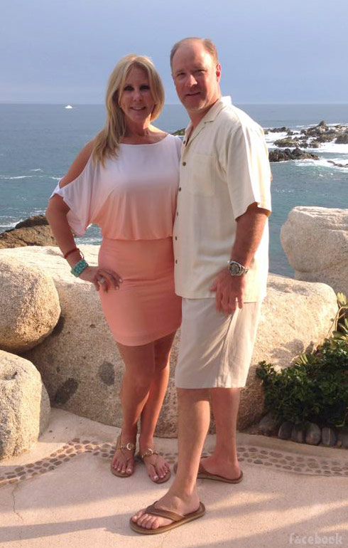 Vicki Gunvalson and Brooks Ayers together in Cabo in May 2013