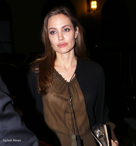 Angelina Jolie April 4, 2013 in the middle of her procedures.