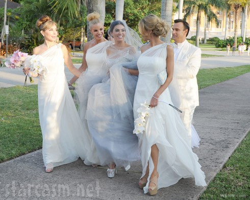 Real Housewives of Miami Adriana de Moura wedding bridesmaids Marysol Alexia and Lisa