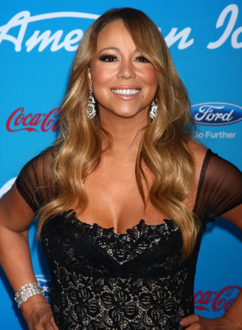 Mariah Carey attends the FOX 'American Idol' finalists party at The Grove in Los Angeles, California, United States.