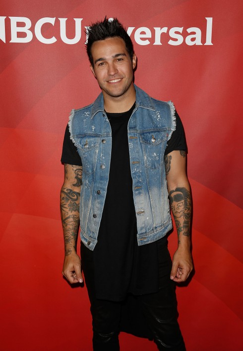 Pete Wentz attends the 2013 NBCUniversal Summer Press Day at The Langham Huntington Hotel and Spa in Los Angeles, CA, United States.