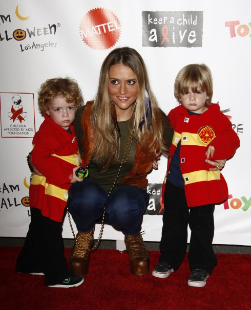 Brooke Mueller with her sons Bob and Max at the 18th Annual Dream Halloween to benefit the Children Affected by Aids Foundation in Los Angeles, California.