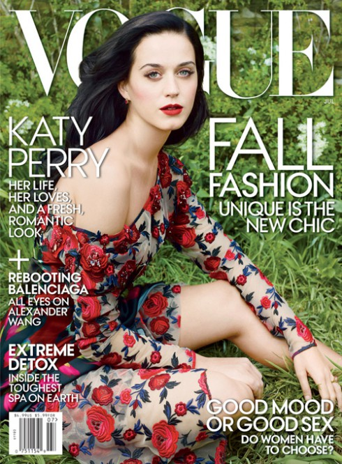 Katy Perry on the cover of Vogue Magazine 2013 July issue