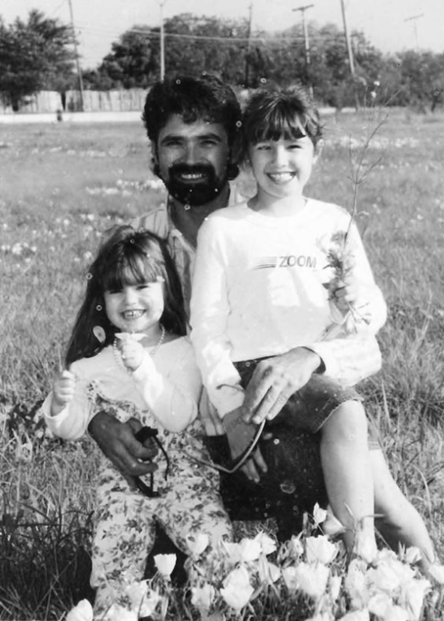 Childhood photo of Demi, Dallas, and Patrick Lovato
