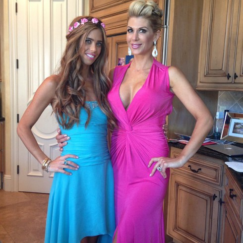 Lydia McLaughlin and Alexis Bellino at Tamra Barney and Eddie Judge's wedding