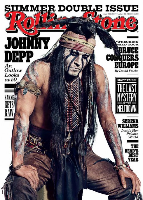 Johnny Depp on the cover of Rolling Stone July 2013
