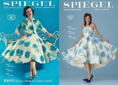 Breaking Amish Kate Stoltzfus recreates 1958 Spiegel Spring/Summer catalog