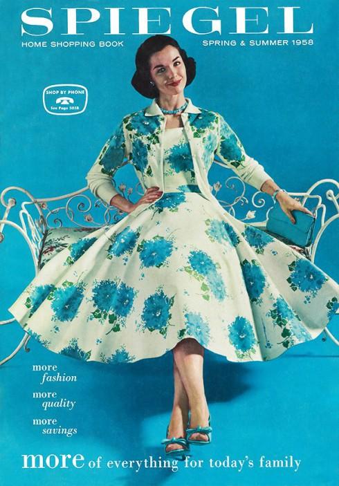 1958 Spring/Summer Spiegel catalog recreated for 2013