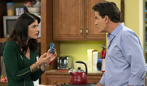 Selma Blair and Charlie Sheen on Anger Management