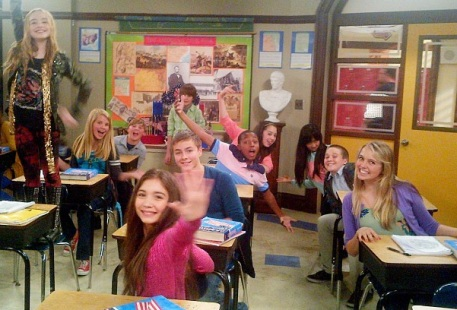 Girl Meets World filming photo from the classroom