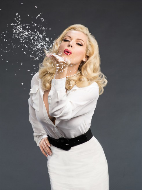 Agnes Bruckner playing Anna Nicole Smith in th eLifetime movie Anna Nicole