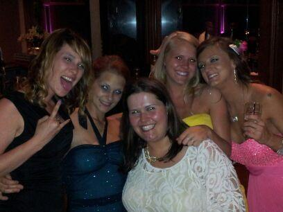 Tyler's sister Amber Baltierra and friends at her mom's wedding