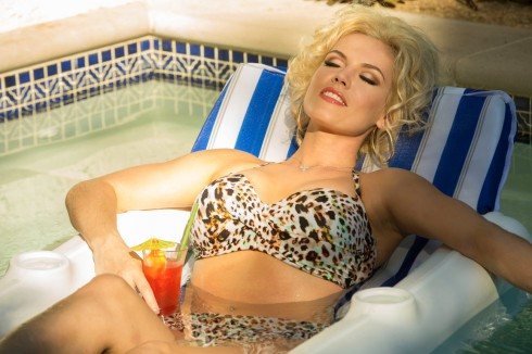 Anna Nicole Smith played by Agnes Bruckner int he Lifetime movie