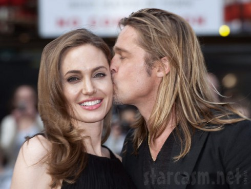 Brad Pitt kissing Angelina Jolie World War Z Premiere