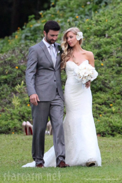Brandon Jenner wedding photo with Leah Felder Jenner