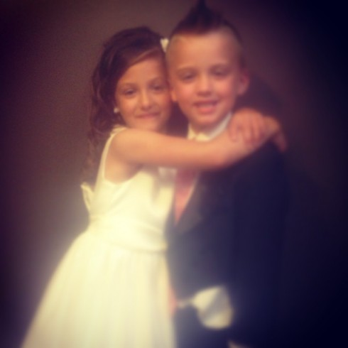 Catelynn Lowell's niece and nephew at Tyler Baltierra's mom Kim's wedding as ring bearer and flower girl