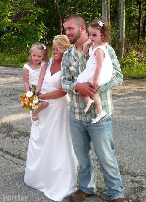 Teen Mom 2 Corey Simms Miranda Simms wedding photo with Ali and Aleeah