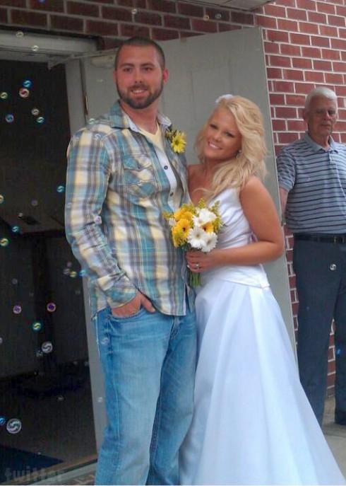 Teen Mom 2 Leah's ex Corey Simms and Miranda Simms wedding photo