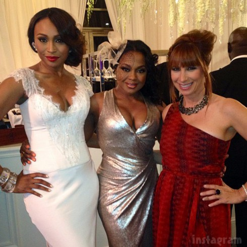 Bridesmaid Cynthia Bailey Phaedra Parks Jill Zarin at NeNe Leake's wedding_