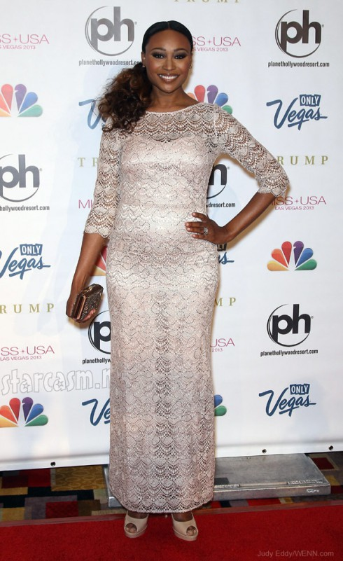 Is Cynthia Bailey pregnant? She appeared to have a baby bump at 2013 Miss USA Pageant