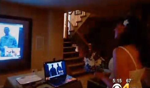 Darrin and Tory Burst Skype Wedding