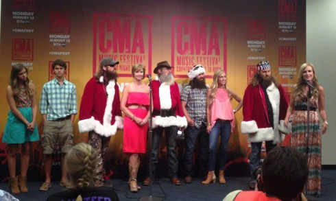 Duck Dynasty cast at the CMA Festival announcing Christmas album Duck the Halls