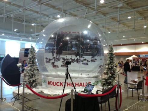 Duck the Halls snow globe CMA Festival