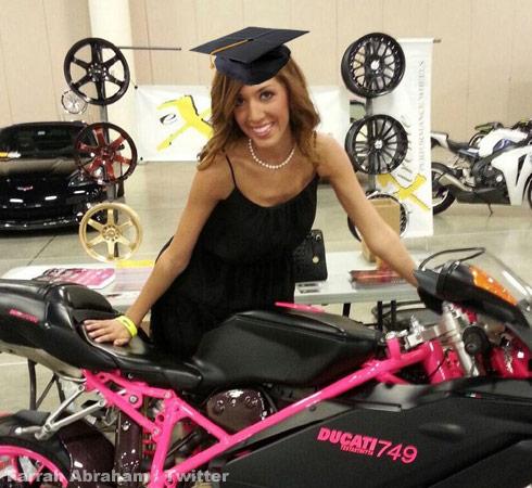 Farrah-Abraham-on-a-Ducati