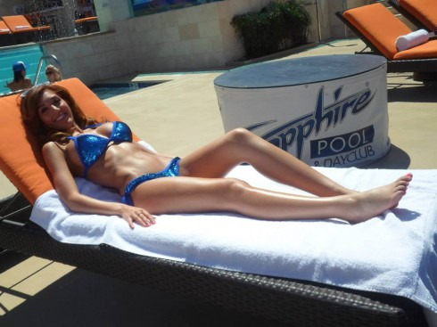 Farrah Abraham Sapphire Pool tanning