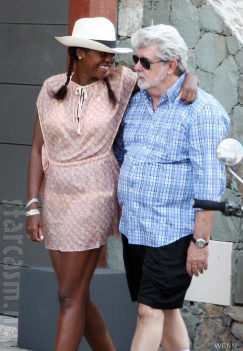George Lucas and wife Mellody Hobson together