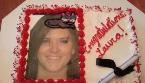 Graduation Cat Cake Fail