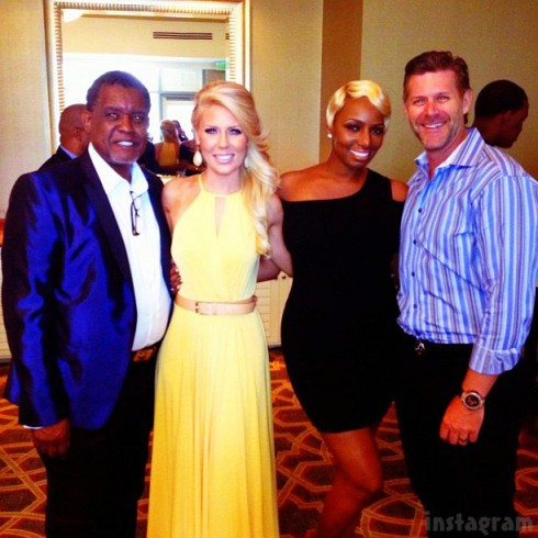 Gregg Leakes Gretchen Rossi NeNe Leakes Slade Smiley NeNe's wedding brunch
