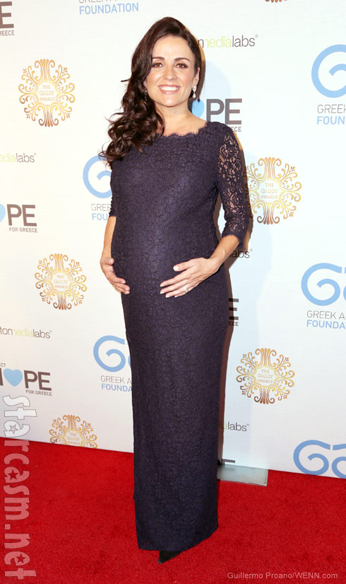Pregnant Jenni Pulos gives birth to daughter Alianna Marika Nassos