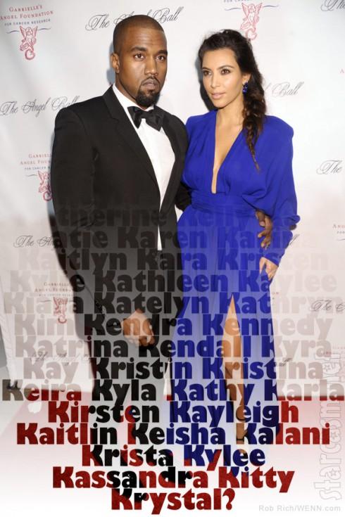 Kanye West Kim Kardashian baby name for their daughter